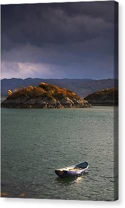 Boat On Loch Sunart, Scotland Canvas Print