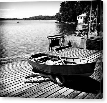 Canvas Print featuring the photograph Boat Shed by Carole Hinding