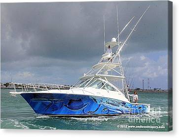 Boat Wrap On Cabo Canvas Print by Carey Chen