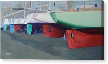 Boat Yard Island Heights Canvas Print by Robert Henne