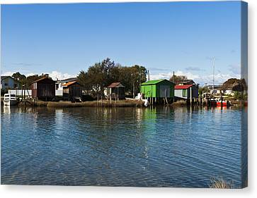 Boathouses Canvas Print by Graeme Knox