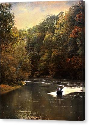 Boating On The Hatchie Canvas Print by Jai Johnson