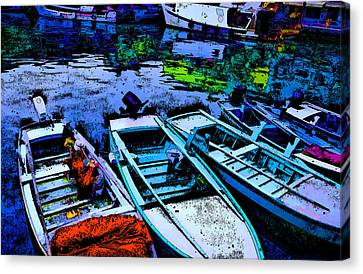 Boats 2 Canvas Print by Mauro Celotti