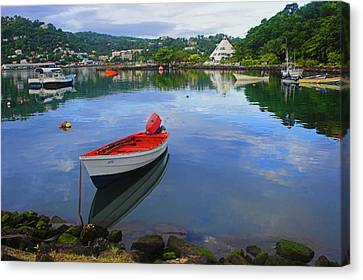 Canvas Print featuring the photograph Boats-castries Harbor- St Lucia by Chester Williams