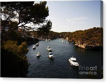 Boats In Cala Figuera Canvas Print