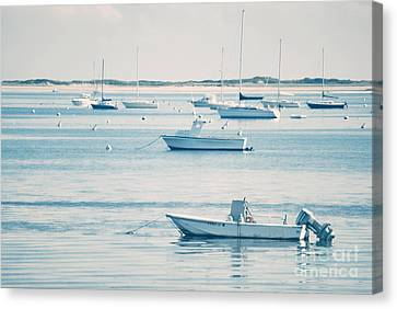 Boats In The Ocean Canvas Print