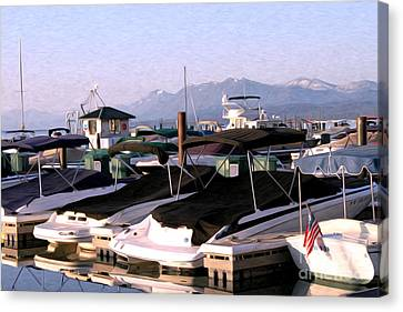 Canvas Print featuring the photograph Boats On The Lake by Anne Raczkowski