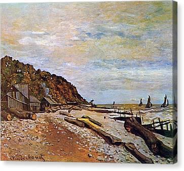 Boatyard Near Honfleur Canvas Print by Claude Monet