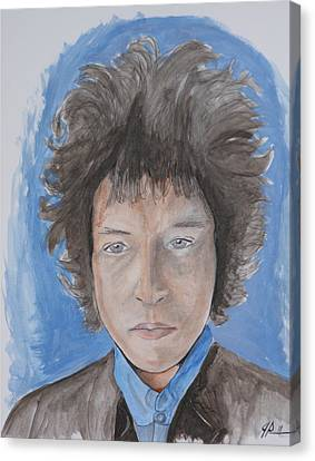 Bob Dylan Canvas Print by Joseph Papale