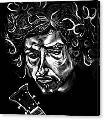 Bob Dylan Like A Rolling Stone Canvas Print by Herbert Renard