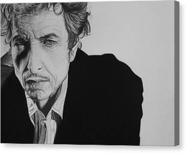Bob Dylan Canvas Print by Steve Hunter