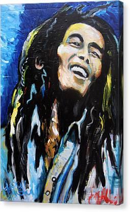 Bob Marley  Canvas Print by Jon Baldwin  Art
