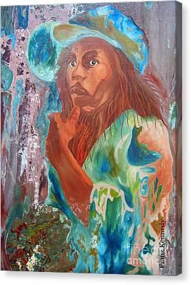 Bob Marley Canvas Print by Kennedy Franz