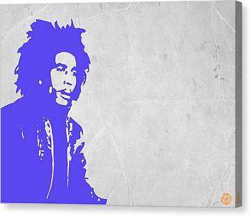 Bob Marley Purple 3 Canvas Print