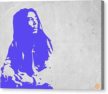 Bob Marley Purple Canvas Print
