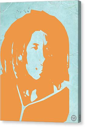 Bob Marley Yellow 2 Canvas Print