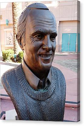 Bob Newhart Bust Canvas Print by Jeff Lowe