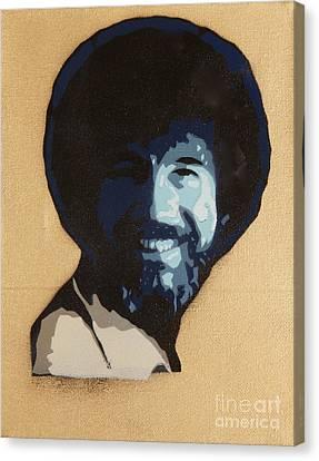 Bob Ross Canvas Print by Tom Evans