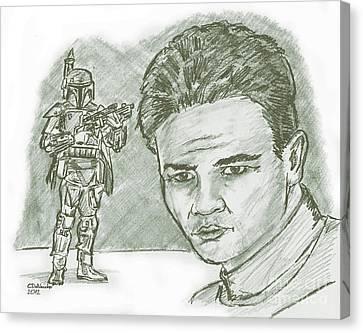 Boba Fett Dk Canvas Print by Chris  DelVecchio