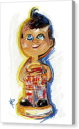 Hamburger Canvas Print - Bob's Big Boy Bobble Head by Russell Pierce