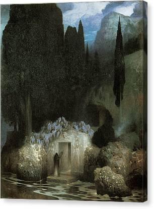 Bocklin's Tomb Canvas Print by Ferdinand Keller