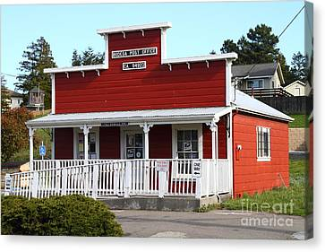 Bodega Post Office . Bodega Bay . Town Of Bodega . California . 7d12455 Canvas Print by Wingsdomain Art and Photography