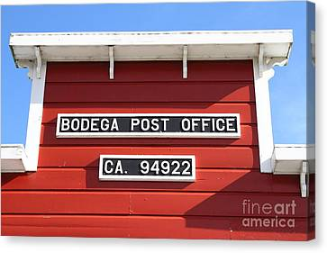 Bodega Post Office . Bodega Bay . Town Of Bodega . California . 7d12465 Canvas Print by Wingsdomain Art and Photography