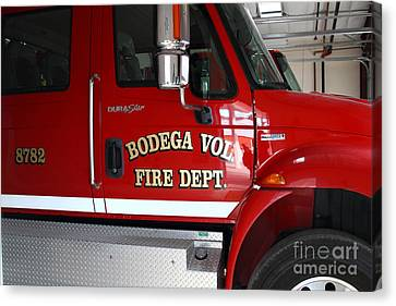 Bodega Volunteer Fire Department Fire Engine . Bodega Bay . Town Of Bodega . California . 7d12459 Canvas Print by Wingsdomain Art and Photography