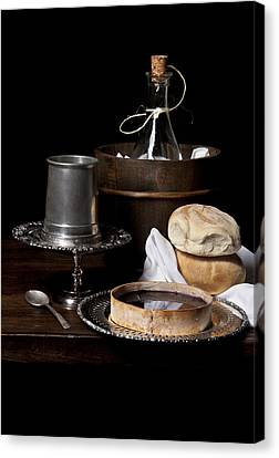 Bodegon With Cooler - Bread And Jalea Canvas Print by Levin Rodriguez