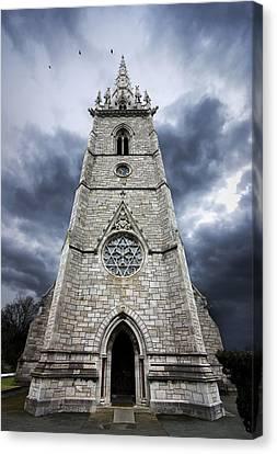 Threatening Canvas Print - Bodelwyddan Church by Meirion Matthias