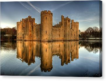 Bodiam Castle Canvas Print by Mark Leader