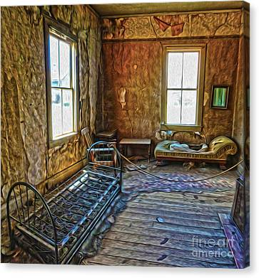 Bodie Ghost Town - Old House 03 Canvas Print by Gregory Dyer