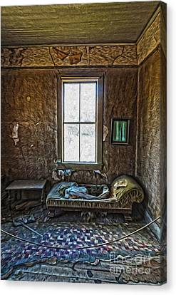 Bodie Ghost Town - Old House 04 Canvas Print by Gregory Dyer