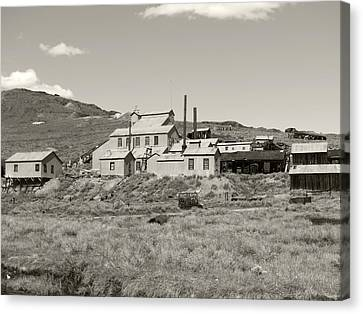 Bodie Ghost Town California Gold Mine Canvas Print by Philip Tolok