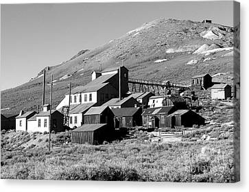 Canvas Print featuring the photograph Bodie Ghost Town by Jim McCain