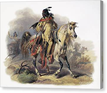 Bodmer: Blackfoot Horseman Canvas Print by Granger
