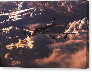 Boeing 747 Canvas Print by Mike Miller