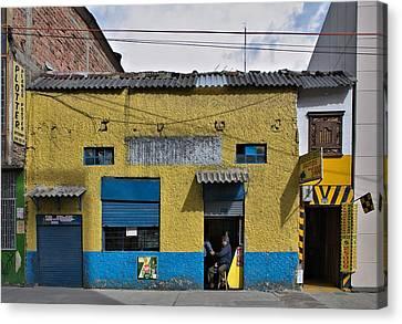 Canvas Print featuring the photograph Bogota Shop by Steven Richman