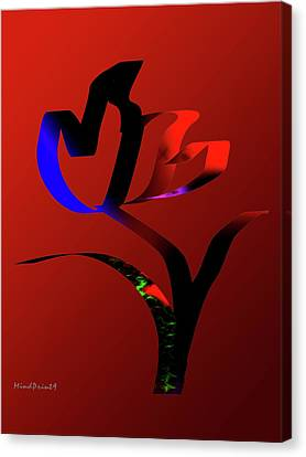 Canvas Print featuring the digital art Bold And Beautiful by Asok Mukhopadhyay