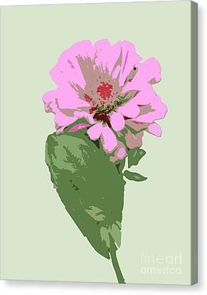 Bold Pink Flower Canvas Print by Karen Nicholson