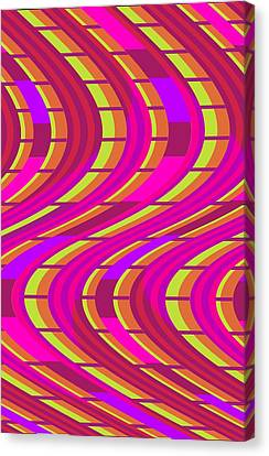 Bold Swirl  Canvas Print by Louisa Knight