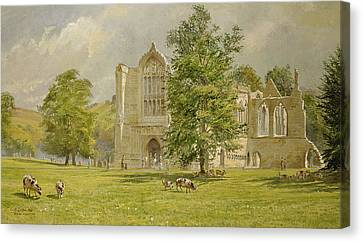 Ruins Canvas Print - Bolton Abbey  by Tim Scott Bolton
