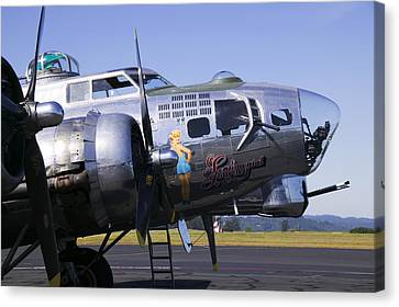 Bomber Sentimental Journey Canvas Print by Garry Gay