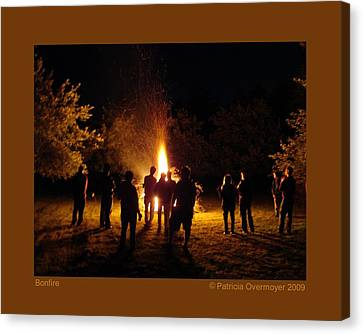 Bonfire Canvas Print by Patricia Overmoyer