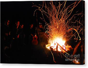 Out Of The Woods Canvas Print - Bonfire by Syed Aqueel