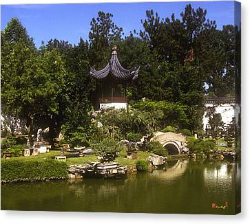 Canvas Print featuring the photograph Bonzai Garden And Gazebo 19l by Gerry Gantt