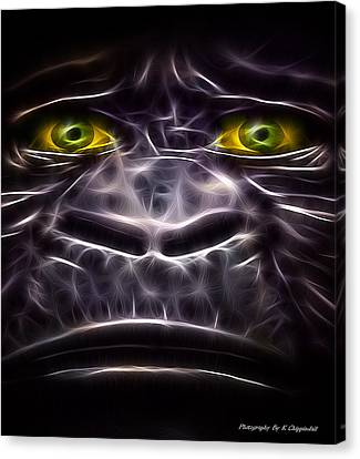 Canvas Print featuring the digital art Boo Boo 02 by Kevin Chippindall