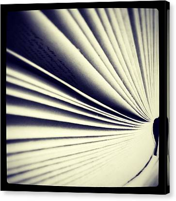 #book #reading #pages #photooftheday Canvas Print