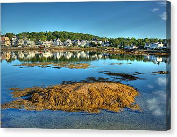 Boothbay Harbor Canvas Print by Ron St Jean
