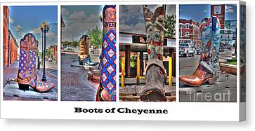 Boots Of Cheyenne Canvas Print